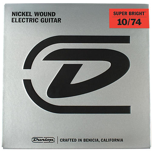 Dunlop Super Bright Medium Nickel Wound 8-String Electric Guitar Strings (10-74)-thumbnail