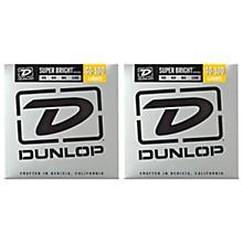 Dunlop Super Bright Nickel Light 4-String Bass Guitar Strings (9-42) 2-Pack