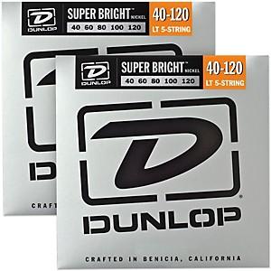 Dunlop Super Bright Nickel Light 5 String Bass Guitar Strings 4-120 2-Pac... by Dunlop