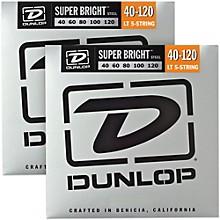 Dunlop Super Bright Steel Light 5-String Bass Guitar Strings (40-120) 2-Pack