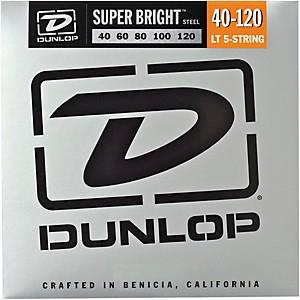 Dunlop Super Bright Steel Light 5 String Bass Guitar Strings by Dunlop