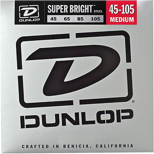 Dunlop Super Bright Steel Medium 4-String Bass Guitar Strings-thumbnail
