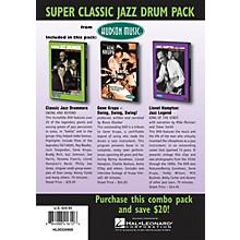 Hudson Music Super Classic Jazz Drum Pack 3-DVD Set DVD Series DVD Performed by Various