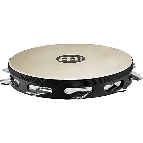 Meinl Super-Dry Studio Goat-Skin Wood Tambourine One Row Stainless Steel Jingles