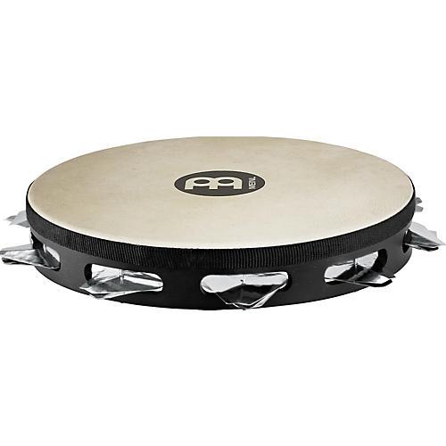 Meinl Super-Dry Studio Goat-Skin Wood Tambourine One Row Stainless Steel Jingles-thumbnail