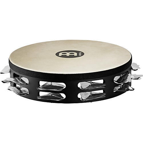 Meinl Super-Dry Studio Goat-Skin Wood Tambourine Two Rows Stainless Steel Jingles