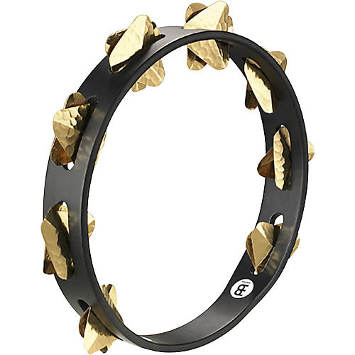 Meinl Super-Dry Studio Wood Tambourine One Row Brass Jingles Black