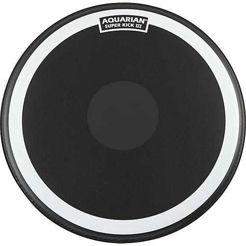 Aquarian Super-Kick III Black Drumhead 22 in.