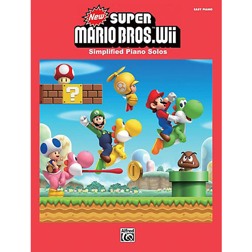 Alfred Super Mario Bros. Wii Easy Piano Book