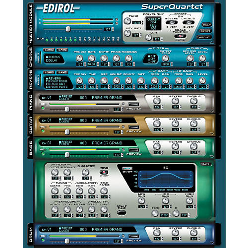 Edirol Super Quartet HQ Software Synth