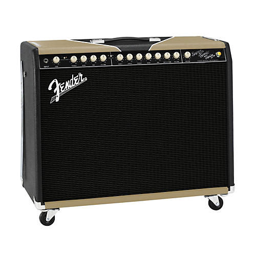 Fender Super-Sonic Twin Black/Gold 100W 2x12 Tube Guitar Combo Amp 2-Color Gold/Black Tolex Black Grille