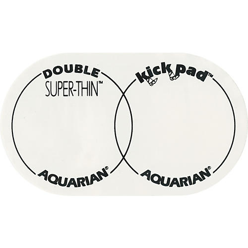 Aquarian Super-Thin Double Bass Drum Kick Pad-thumbnail