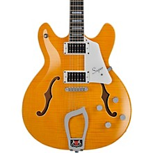 Hagstrom Super Viking Flame Maple Electric Guitar Level 1 Dandy Dandelion