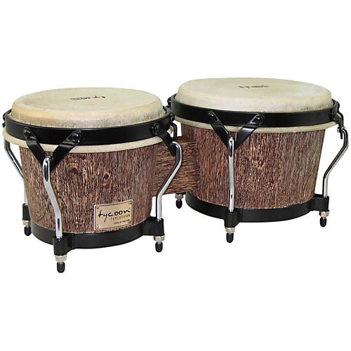 Tycoon Percussion Supremo Select Series Bongos 7 and 8 1/2 in. Island Palm Finish-thumbnail