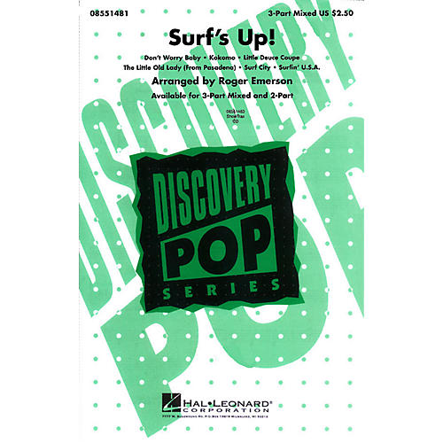 Hal Leonard Surf's Up! (Medley) 3-Part Mixed arranged by Roger Emerson