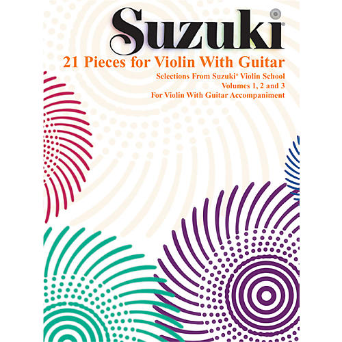 Alfred Suzuki 21 Pieces for Violin with Guitar (Book)-thumbnail