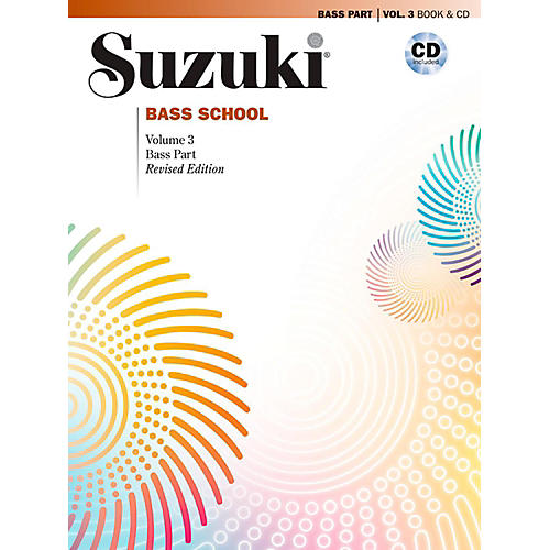 Suzuki Suzuki Bass School Book & CD Volume 3 (Revised)-thumbnail
