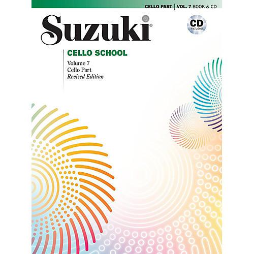 Alfred Suzuki Cello School Volume 7 Book & CD (Revised)-thumbnail