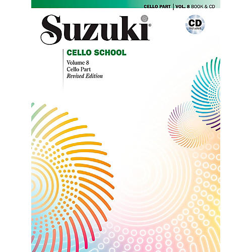 Alfred Suzuki Cello School Volume 8 Book & CD (Revised)-thumbnail