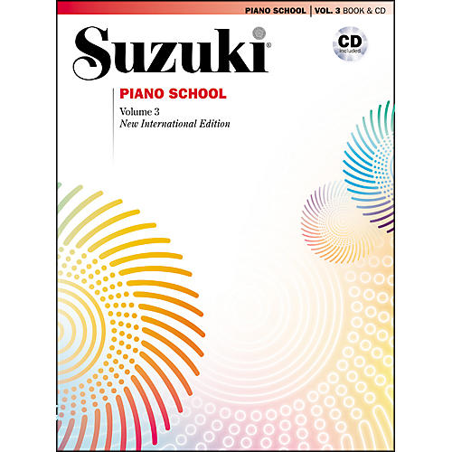 Suzuki Suzuki Piano School New International Edition Piano Book and CD Volume 3-thumbnail