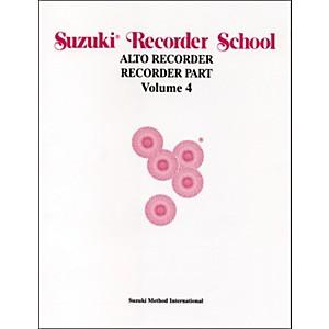 Alfred Suzuki Recorder School Alto Recorder Recorder Part Volume 4