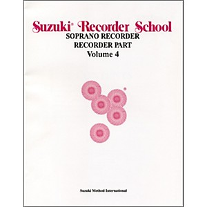 Alfred Suzuki Recorder School Soprano Recorder Recorder Part Volume 4 by Alfred