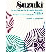 Alfred Suzuki String Quartets for Beginning Ensembles Volume 2 (Book)