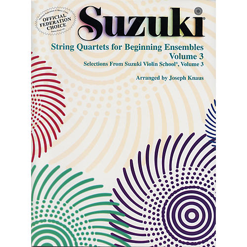 Alfred Suzuki String Quartets for Beginning Ensembles Volume 3 (Book)-thumbnail