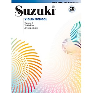 Alfred Suzuki Violin School Violin Part Volume 6 Revised Book and CD by Alfred