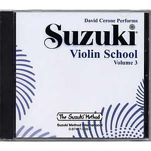 Alfred Suzuki Violin School Volume 3 CD by Alfred