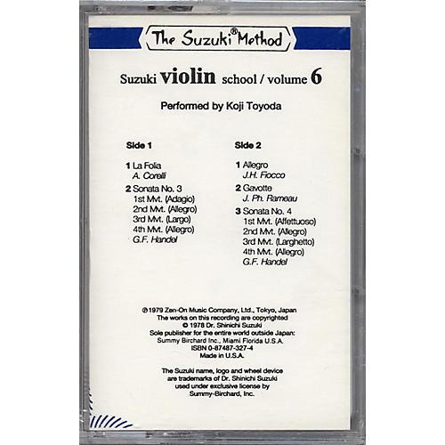 Alfred Suzuki Violin School Volume 6 (Cassette)