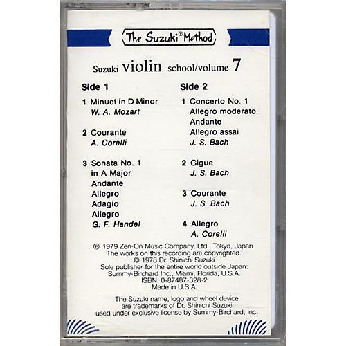 Alfred Suzuki Violin School Volume 7 (Cassette)