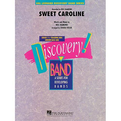 Hal Leonard Sweet Caroline Concert Band Level 1.5 by Neil Diamond Arranged by Johnnie Vinson