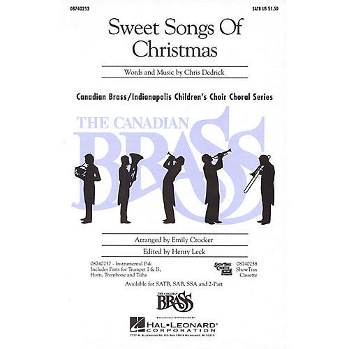 Hal Leonard Sweet Songs of Christmas SATB composed by Christopher Dedrick
