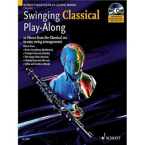 Schott Swinging Classical Play-Along Woodwind Solo Series BK/CD