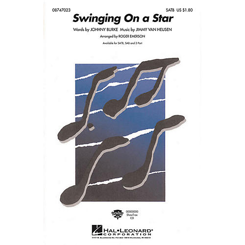 Hal Leonard Swinging on a Star 2-Part Arranged by Roger Emerson