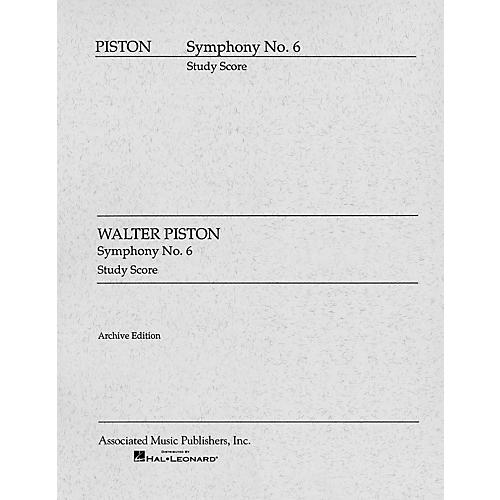Associated Symphony No. 6 (1955) (Study Score) Study Score Series Composed by Walter Piston