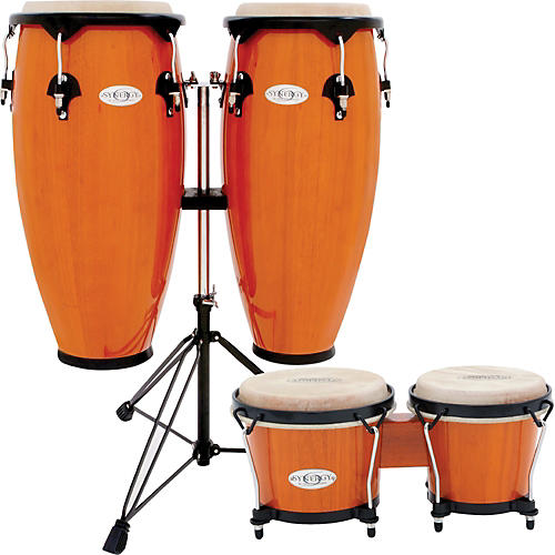 toca synergy conga set with stand and bongos guitar center. Black Bedroom Furniture Sets. Home Design Ideas