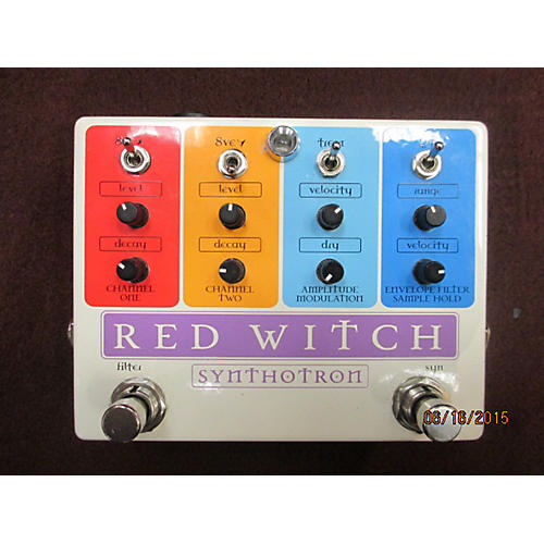 Red Witch Synthotron White Effect Pedal White