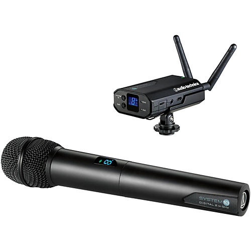 Audio-Technica System 10 Camera-Mount Wireless Microphone System (ATW-1702)-thumbnail