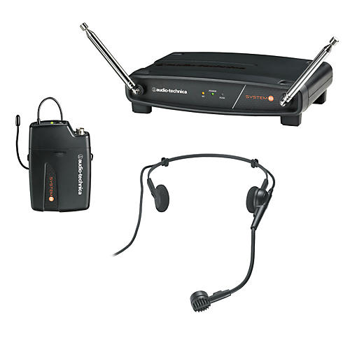 Audio-Technica System 8 Wireless System includes: PRO 8HEcW headworn microphone 169.505 MHz