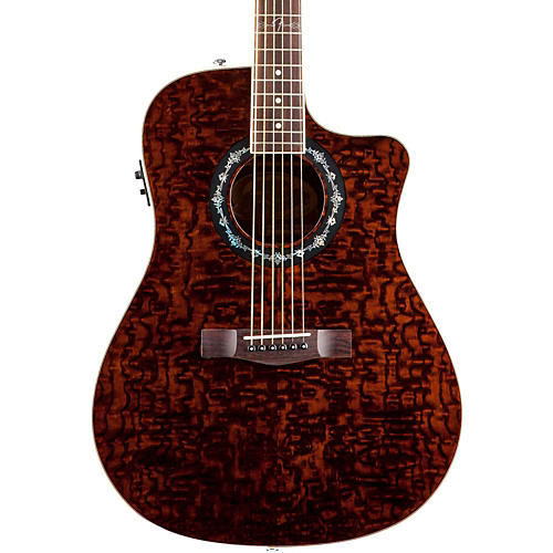 Fender T-Bucket 300 CE Cutaway Acoustic-Electric Dreadnought Guitar Transparent Dark Brown