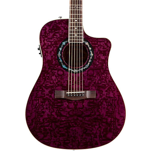 fender t bucket 300 ce cutaway acoustic electric dreadnought guitar transparent violet. Black Bedroom Furniture Sets. Home Design Ideas