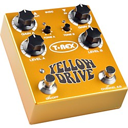 T-Rex Engineering Yellow Drive Distortion Guitar Effects Pedal