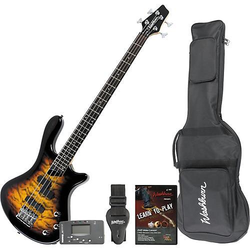 Washburn T14QT Electric Bass/Accessory Pack