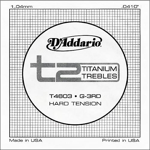 D'Addario T4603 T2 Titanium Hard Single Guitar String