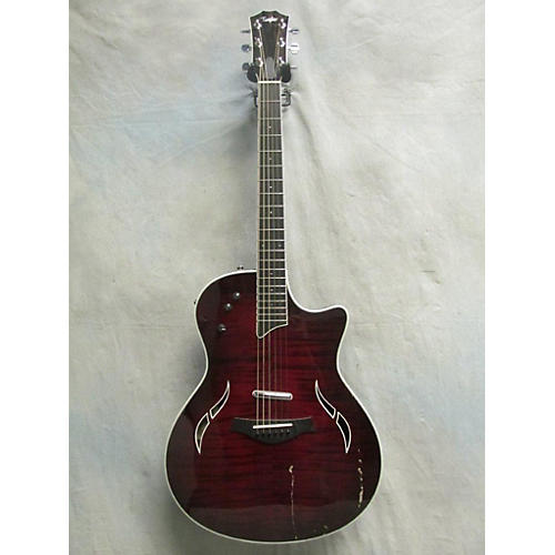 Taylor T5S Hollow Body Electric Guitar Crimson Red Trans