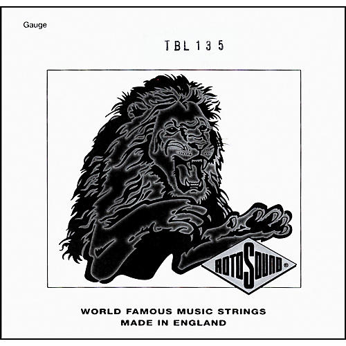 Rotosound TBL135 Trubass Black Nylon Flatwound .135 Single String-thumbnail