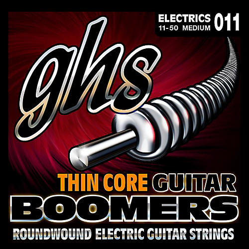 GHS TC-GBM Thin Core Boomers Medium Electric Guitar Strings (11-50)