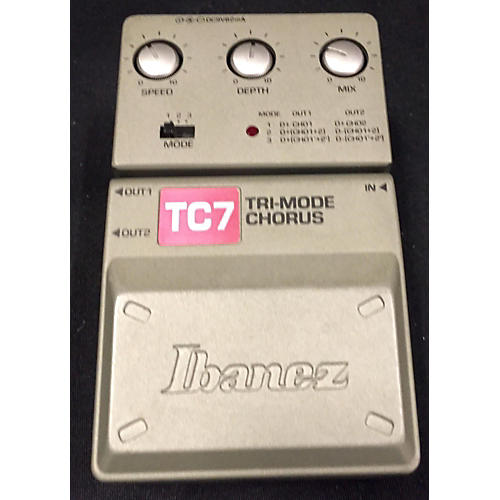 Ibanez TC7 Tri Mode Chorus Effect Pedal-thumbnail